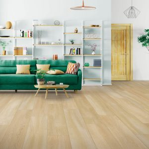Green couch in living room | Floor Dimensions