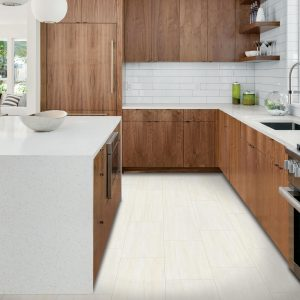 White tiles of kitchen | Floor Dimensions