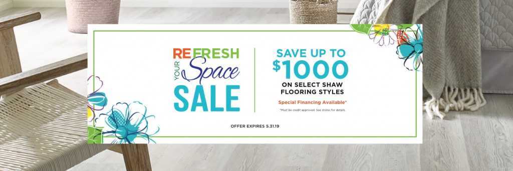 Refresh your space sale| Floor Dimensions