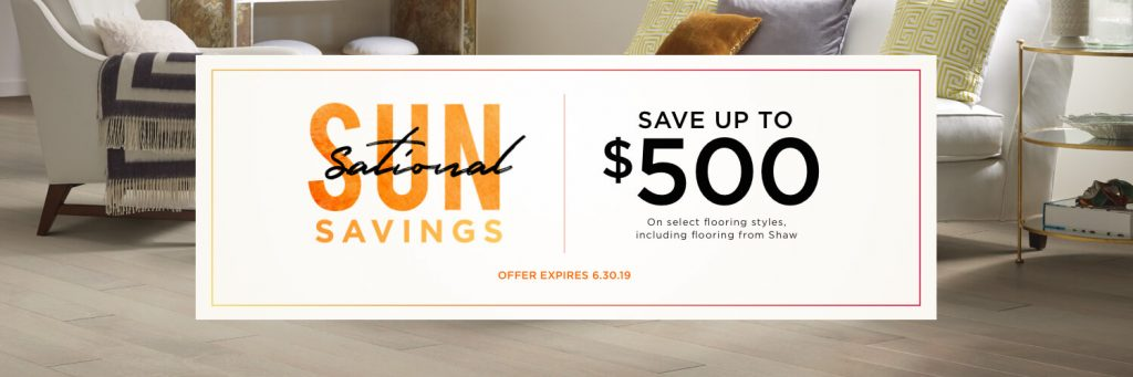 Sun sational savings banner | Floor Dimensions
