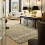 Area Rug in living room | Floor Dimensions Design Centre