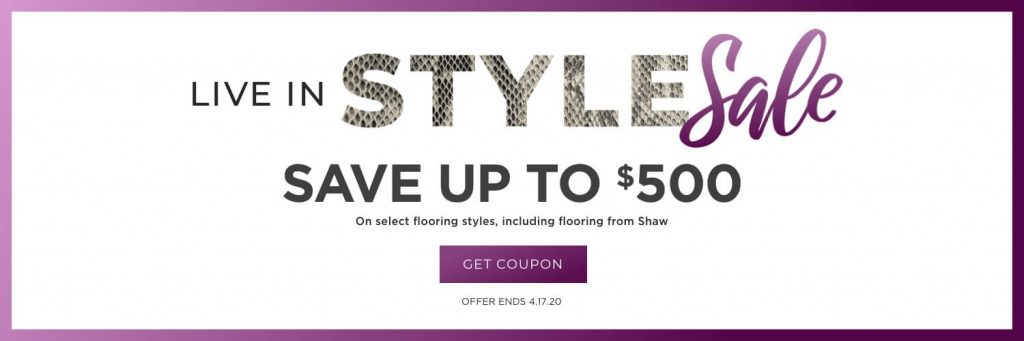 Live in style sale banner | Floor Dimensions