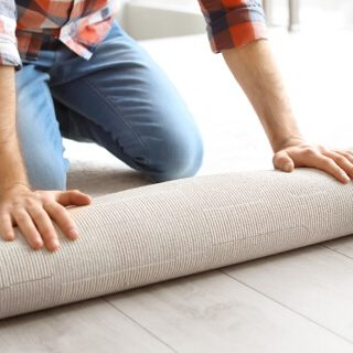 Carpet rolling by man| Floor Dimensions